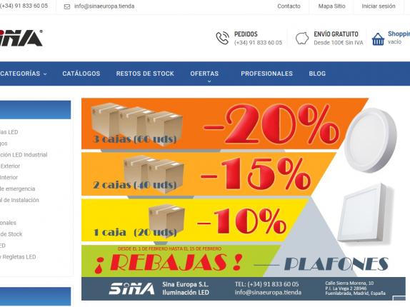 tienda online sina europa